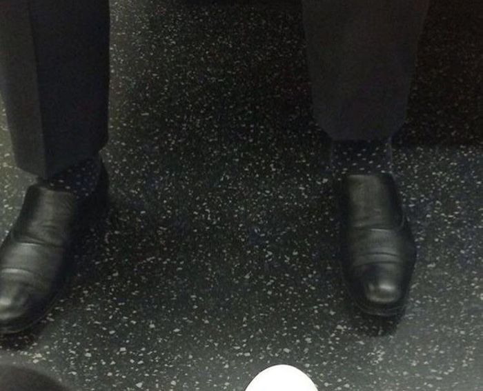 The Invisible Man forgot to wear socks today